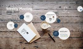 Copy of Weekly Meeting Template