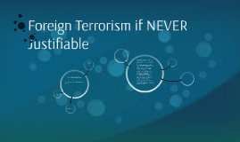 Foreign Terrorism if NEVER Justifiable