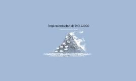 Implementación de ISO 22000