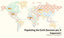 Populating the Earth (because yes, it happened.)