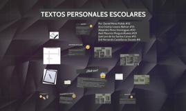 TEXTOS PERSONALES ESCOLARES