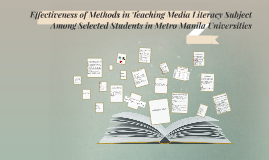 Effectiveness of Methods in Teaching Media Literacy Subject