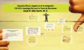 Copy of Aspectos éticos y legales en la Investigación