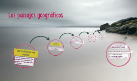 Los paisajes geográficos