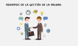 PRINCIPIOS DE LA GESTIÓN DE LA CALIDAD