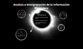 Analisis e Interpretación de la Información Financiera