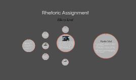 Rhetoric Assignment
