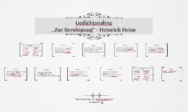 """,,Zur Beruhigung"""" - Heinrich Heine"""
