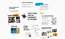 Prezi theme for the University of Helsinki