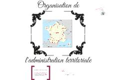 Organisation de l'administration territoriale