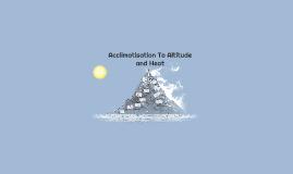 Acclimatization To Altitude