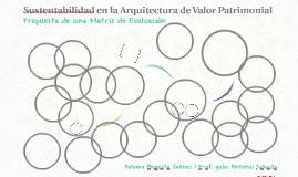 Sustentabilidad en la Arquitectura de Valor Patrimonial