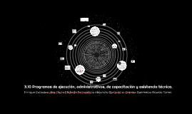 3.10 Programas de ejecución, administrativos, de capacitació