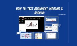 Copy of How to: Text alignment, margins & sapcing