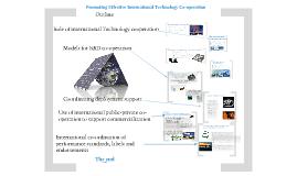 Promoting Effective International Technology Co-operation