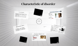 L4: Characteristic of disorder