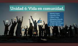 Unidad 6: Vida en comunidad