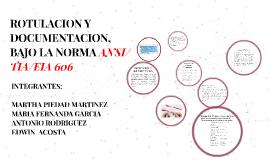 Copy of ROTULACION Y DOCUMENTACION, BAJO LA NORMA ANSI/TIA/EIA 606
