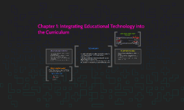 Chapter 1: Integrating Educational Technology into the Curri