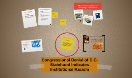 Copy of Congressional Denial of D.C. Statehood Indicates Institution