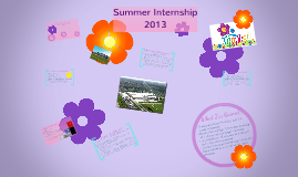 Copy of Summer Internship 2013