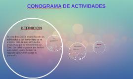 CONOGRAMA DE ACTIVIDADES