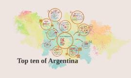Top ten of argentina