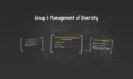 Group 1: Management of Diversity