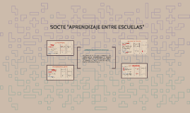 "SOCTE ""APRENDIZAJE ENTRE ESCUELAS"""