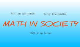 Math in Society