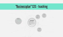 """""""Businessplan"""" S2S - teaching"""