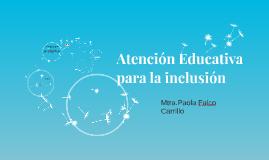 Atención Educativa para la inclusión