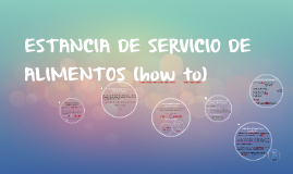 ESTANCIA DE SERVICIO DE ALIMENTOS (how to)