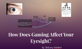How Does Gaming Afect Your Eye Sight?