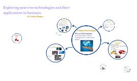 E Mobile Technologies