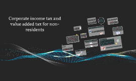 CIT and VAT for non-residents