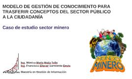 MODELO DE GESTIÓN DE CONOCIMIENTO PARA TRASFERIR CONCEPTOS D