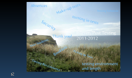 2011-2012 Interim and Post Tests