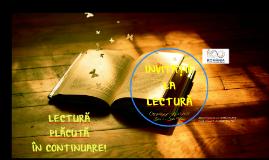 Invitație la lectură