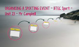 ORGANISING A SPORTING EVENT - BTEC Sport - Unit 23 - Mr Camp