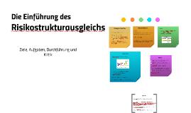 Copy of Die Einführung des Risikostrukturausgleichs