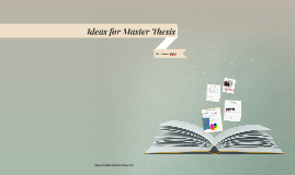 Ideas for Master Thesis