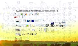FACTORES QUE AFECTAN LA PRODCUCCIÓN II