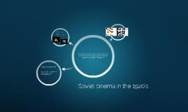 Soviet cinema in the 1920's