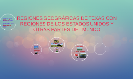 GEOGRAPHIC REGIONS OF TEXAS WITH REGIONS OF THE UNITED STATE