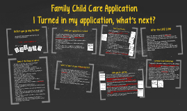Family Child Care Application