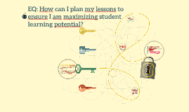 EQ: How can we plan and use instructional strategies that he