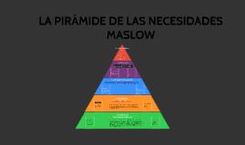 LA PIRAMIDE DE LAS NECESIDADES MASLOW
