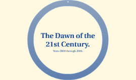 The Dawn of the 21st Century.