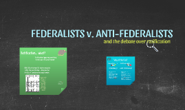 Federalist/Anti-Federalist